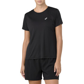 asics Silver SS Top Women Performance Black